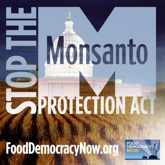 "Click the link & tell your Senator you OPPOSE  the ""farmer assurance provision"", Section 735, currently included in the Senate Continuing Resolution spending bill being considered by Congress."